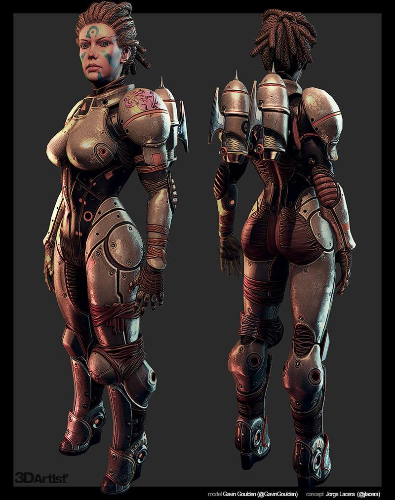 thiết kế nhân vật 3D