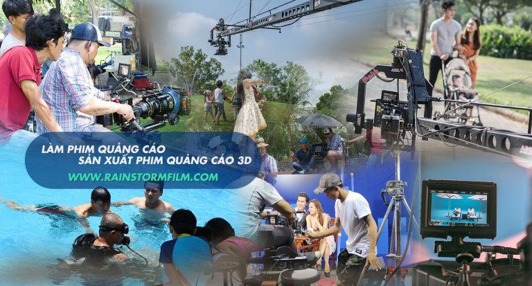 hình ảnh cty làm phim quảng cáo & 3D Rainstorm Film làm việc