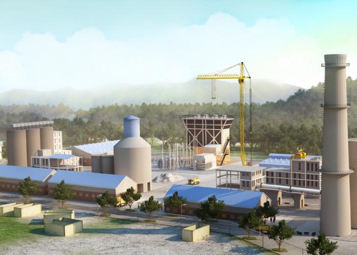 3D kiến trúc, nhà máy xi măng Quảng Trị, Rainstorm thể hiện thiết kế