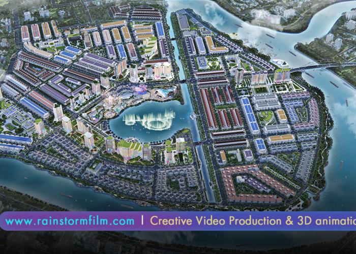 Sản Xuất TVC Quảng Cáo & 3D Kiến Trúc Khu Đô Thị Vạn Phúc
