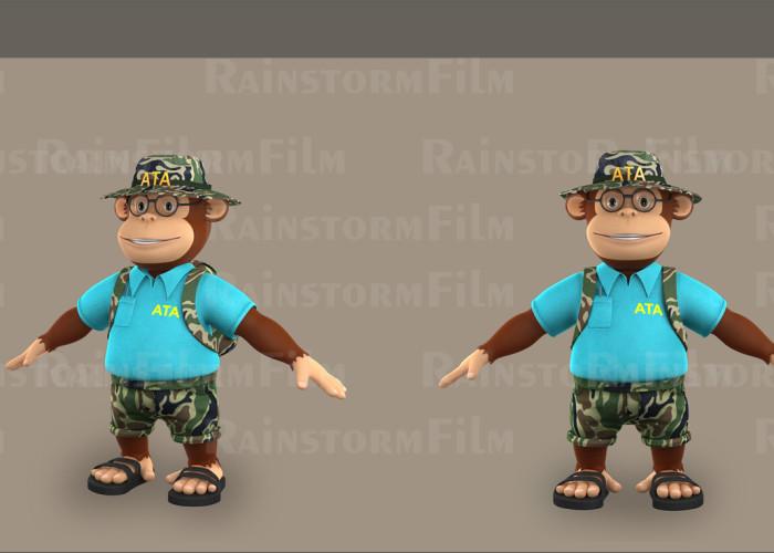 {WIP} 3D Monkey illustration