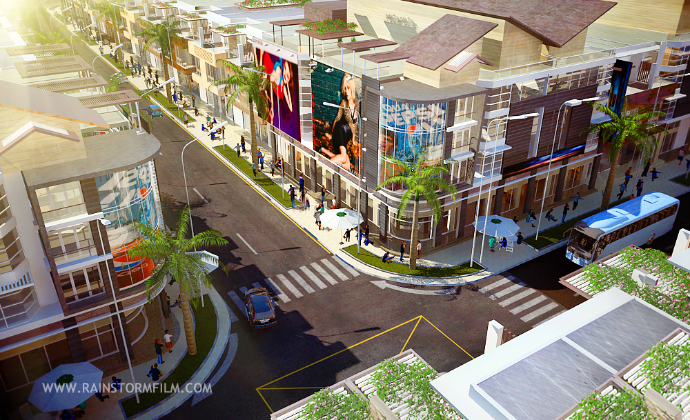 Commercial town at Đồng Nai province | Architecture rendering