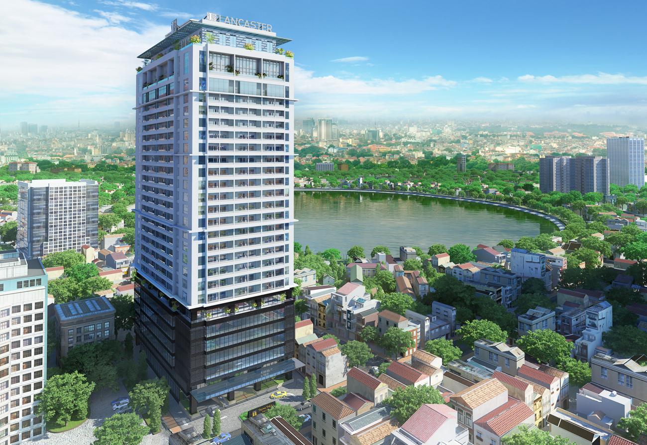3D kiến trúc Lancaster Hà Nội, dự án thuộc tập đoàn Trung Thủy