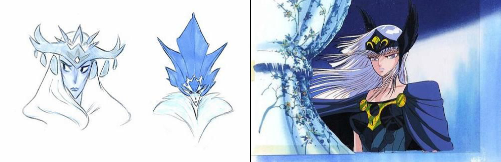 các bảng vẽ phát thảo nhân vật thời kỳ đầu của phim hoạt hình điện ảnh Frozen