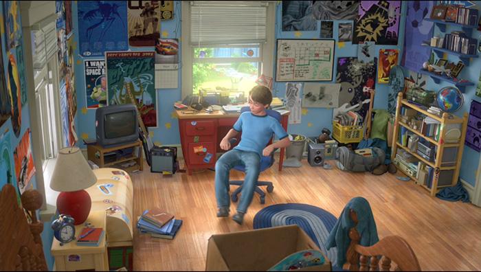 thiết kế đồ họa 3D căn phòng của Andy