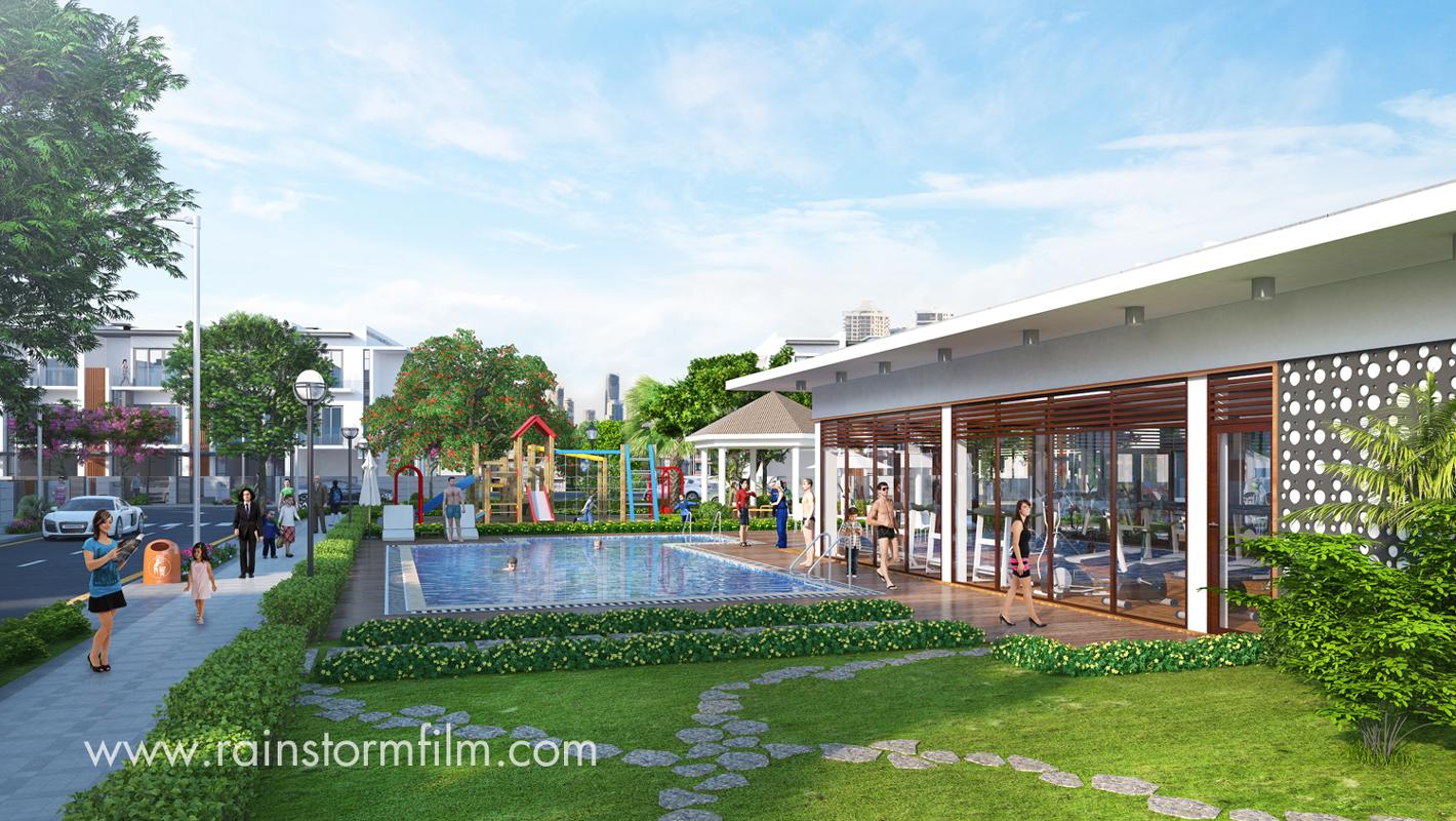 Architectural Rendering on new development Golf Park – Novaland