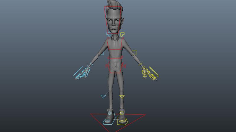 bộ điều khiển các điều khiển rõ ràng trong rigging, làm phim hoạt hình