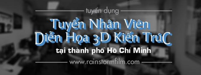 công ty làm phim quảng cáo 3D và hoạt hình tuyển diễn họa viên 3D kiến trúc