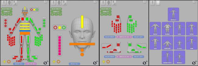 bộ điều khiển được thiết kế giao diện có phân cấp chuyên nghiệp, làm phim hoạt hình