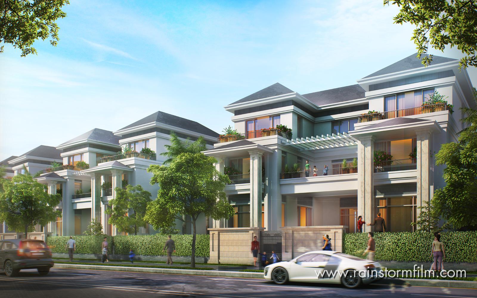 Hình diễn họa phối cảnh kiến trúc 3D Đại Quang Minh