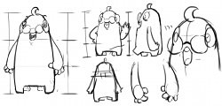 cartoon short animation - character develop