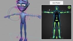 giao diện đồ họa cho các điều khiển dễ ứng dụng của Rig, làm phim hoạt hình