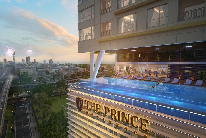 3D kiến trúc Prince Residence do Novaland đầu tư