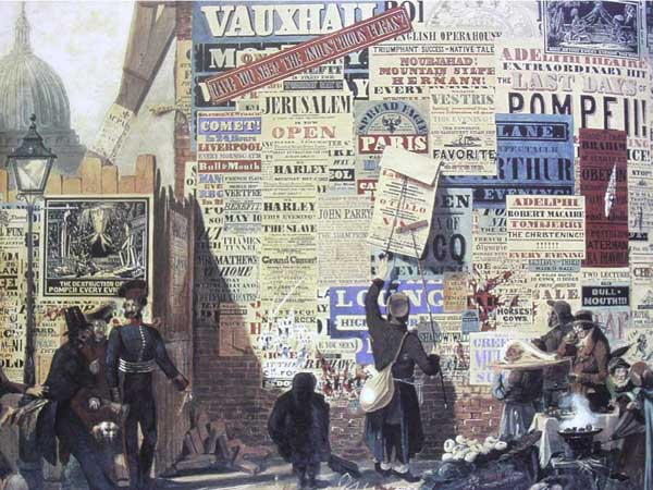 hình ảnh minh hoạ quảng cáo bil board tại Anh năm 1835
