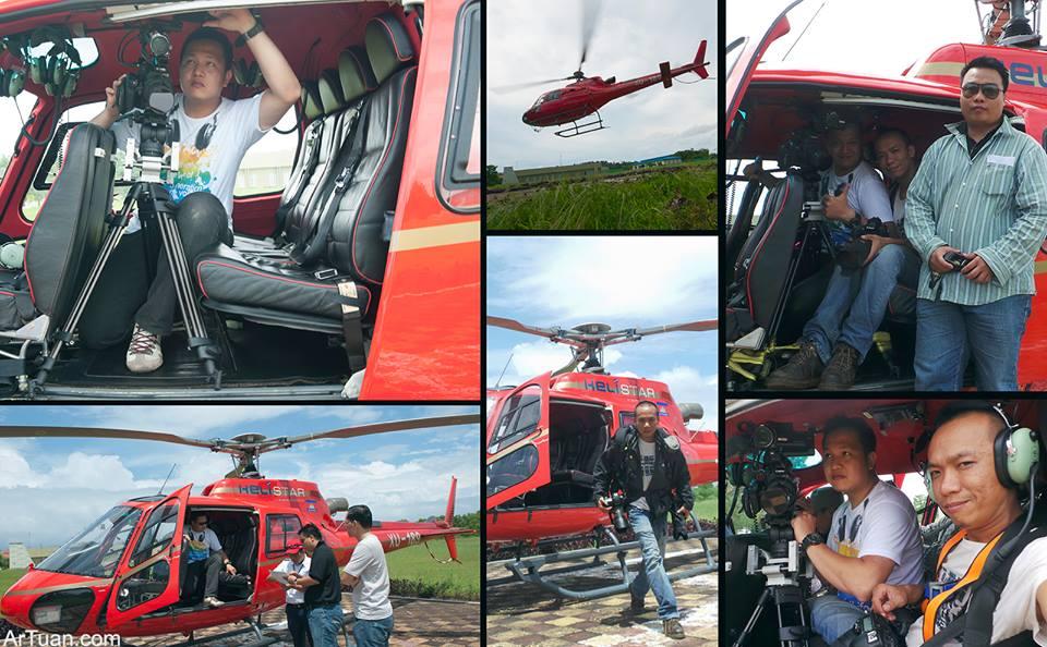 Rainstorm Film thực hiện sản xuất TVC quảng cáo bằng máy bay trực thăng