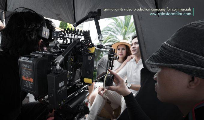 hình ảnh thực hiện làm phim quảng cáo Jamila Khang Điền do Rainstorm* thực hiện